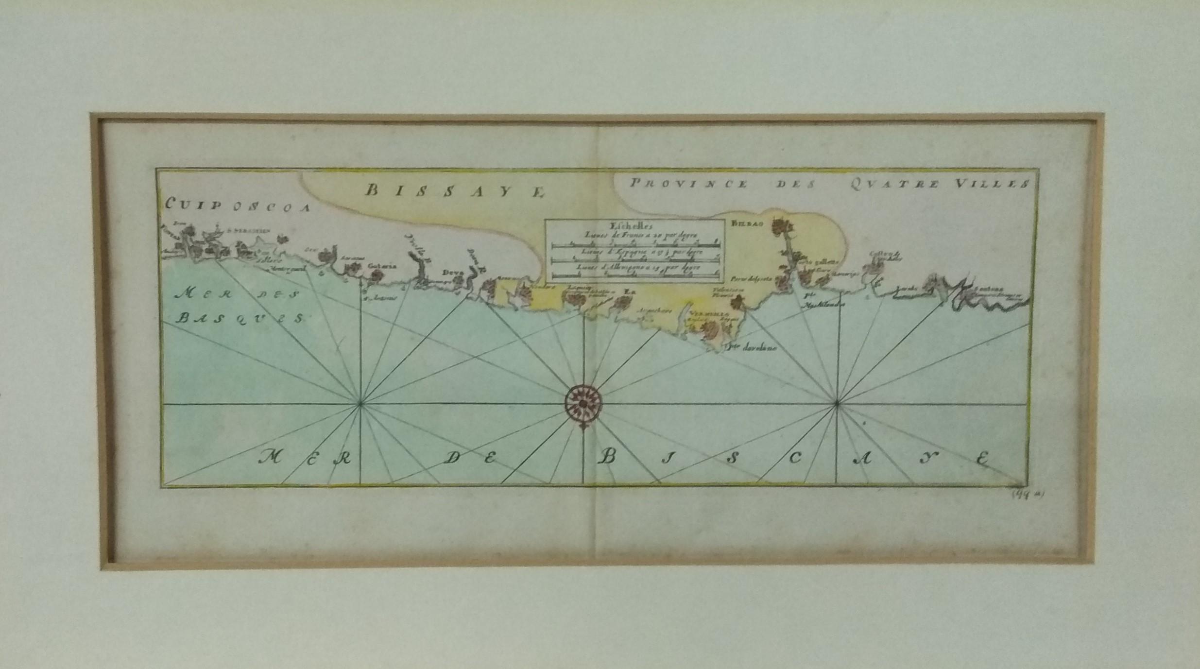 Carta náutica Costa Cantábrica