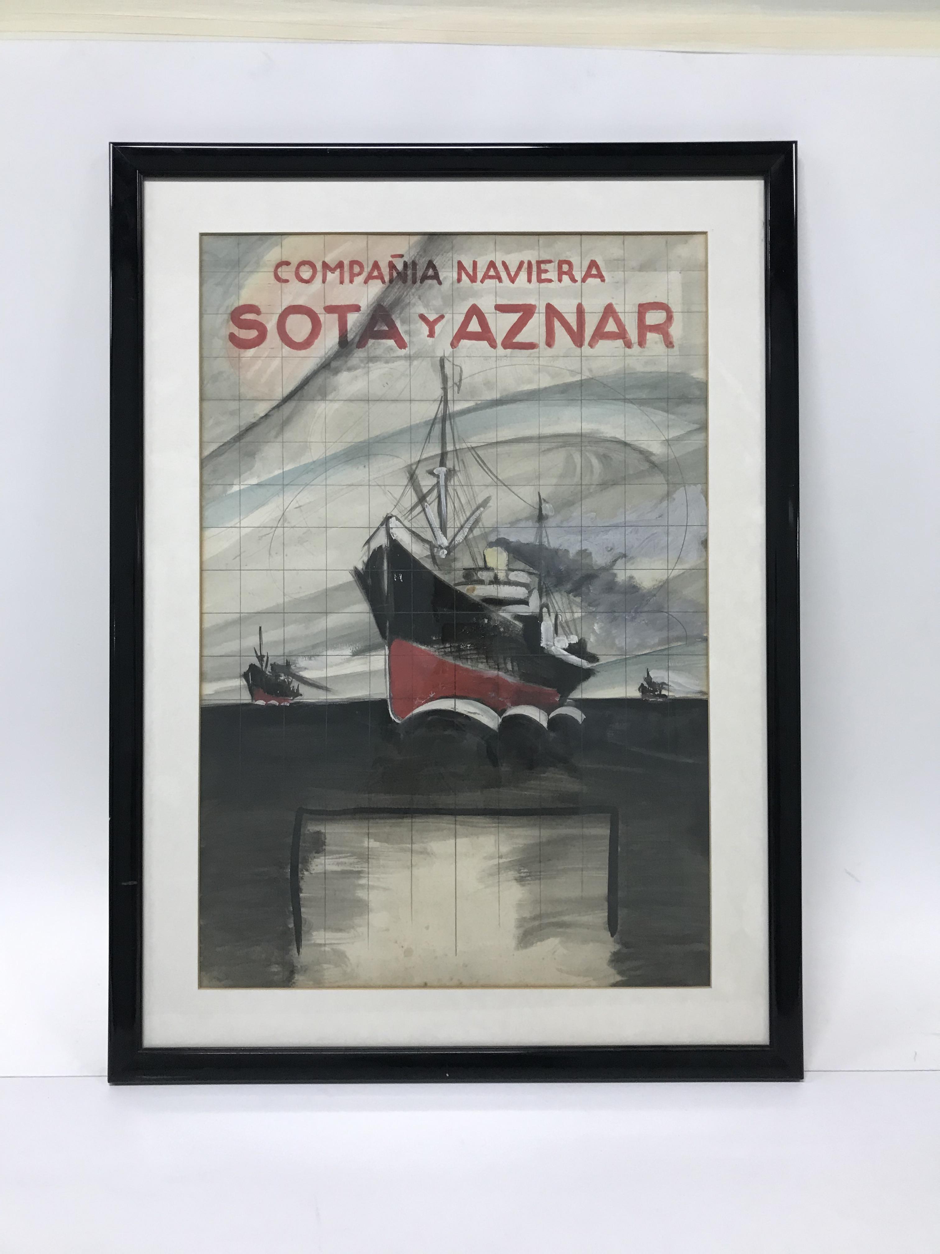 Lámina Naviera Sota y Aznar