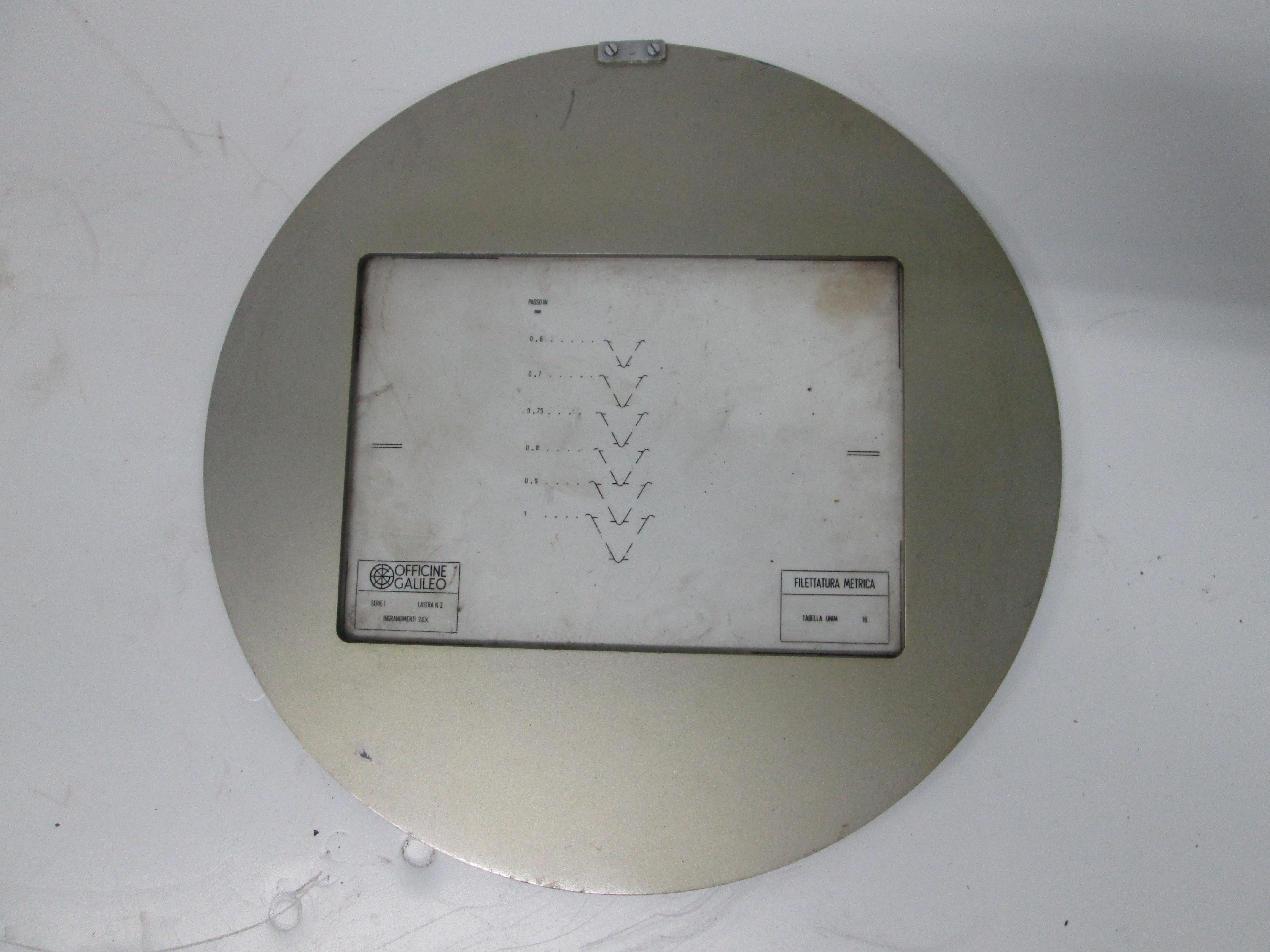Discos medidores para roscas o tuercas