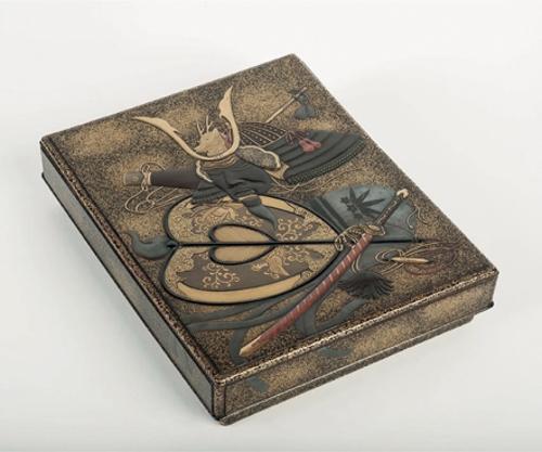 Caja para escritura con armadura japonesa