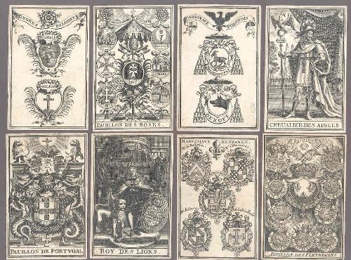 Juego de cartas del blasón