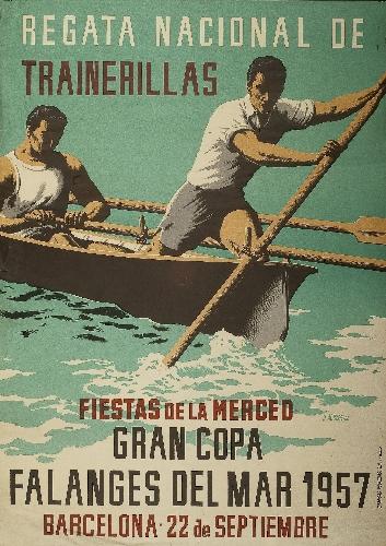 Regata Nacional de / Trainerillas // Gran Copa / Falanges del Mar 1957