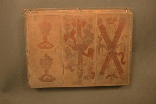 "Plancha de fotograbado de tres cartas ""Austrean tarot"""