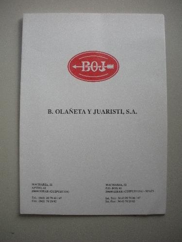 CARPETA DE BOJ, S.A