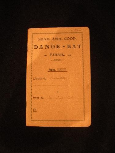 LIBRETA DE EMPRÉSTITOS Nº 8 DE LA SOCIEDAD DANOK BAT