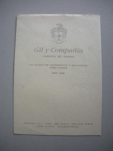 CUBIERTA DEL CATÁLOGO DE GIL Y COMPAÑÍA