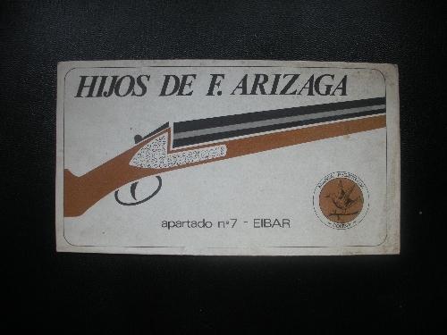CATÁLOGO DE HIJOS DE F. ARIZAGA