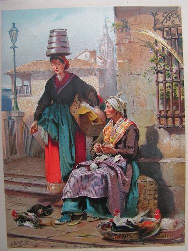 Provincia de Alava (vendedora de pollos).