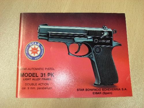 Manual de instrucciones de la pistola semiautomática STAR Mod. 31 PK