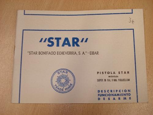 Manual de instrucciones de la pistola automática STAR Mod. SUPER-STAR
