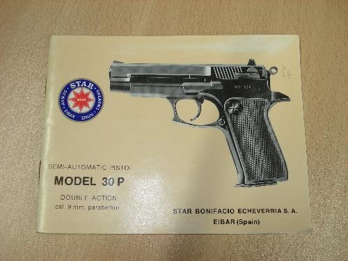 Manual de instrucciones de la pistola semiautomática STAR Mod. 30 P