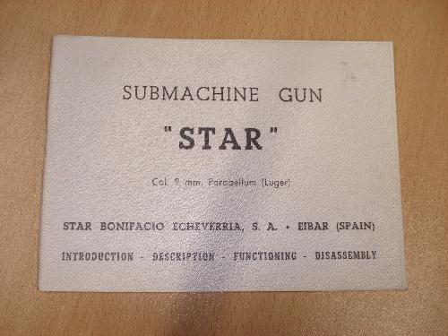 Manual de instrucciones del subfusil STAR Mod. Z-62