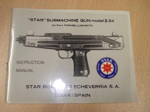 Manual de instrucciones de subfusil STAR Mod. Z-84