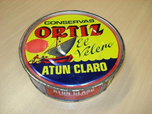 Lata de atún claro en aceite de oliva ORTIZ EL VELERO