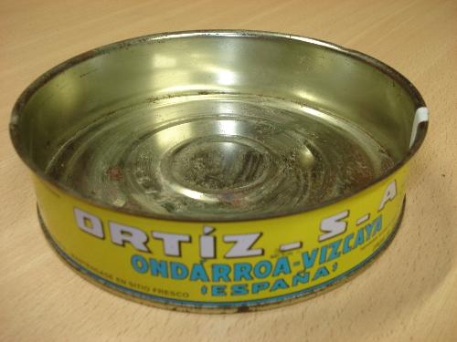Lata de filetes de anchoa en aceite de oliva ORTIZ EL VELERO