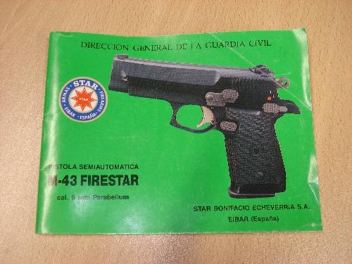 Manual de instrucciones de la pistola semiautomática STAR M-43 FIRESTAR