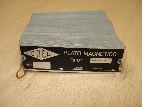 Chapas para colocar en platos magnéticos COEL