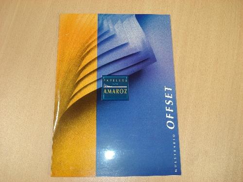 Muestrario de papel offset de PAPELERA DE AMAROZ