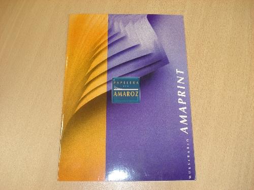 Muestrario Amaprint de papel offset de PAPELERA DE AMAROZ