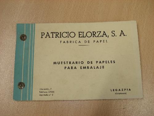 Muestrario de papeles para embalaje PATRICIO ELORZA