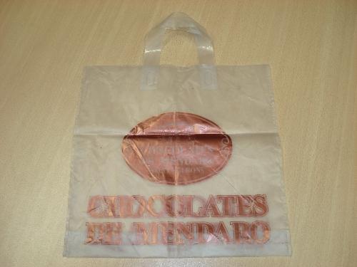 Bolsa con publicidad de CHOCOLATES DE MENDARO SAINT-GERONS