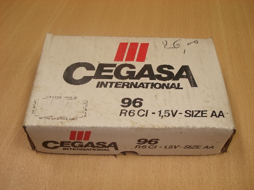 Caja de pilas 96 R6 CI -1,5V- CEGASA