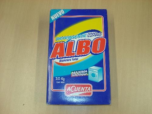 Caja de detergente ALBO