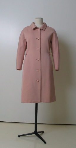 Abrigo en sarga de lana