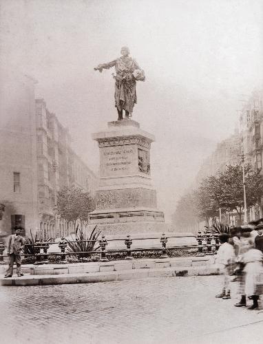 """""""Don Diego"""" en su primer emplazamiento en la Plaza Circular"""
