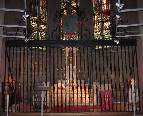 Reja de la capilla de los Velasco de Galarreta
