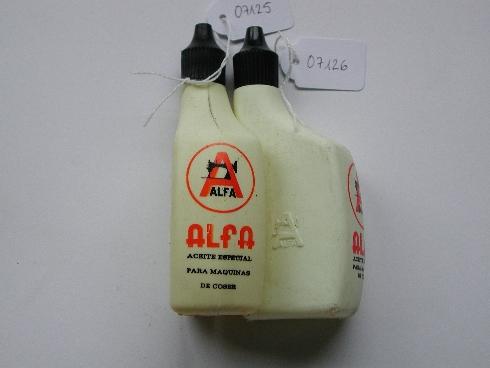 Bote para aceite especial para máquinas de coser