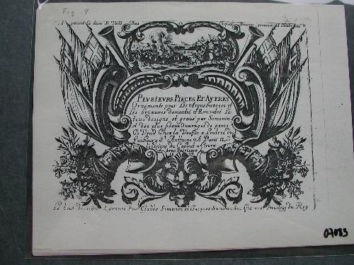 Plusieurs pieces et ornements (Albúm de grabados fotocopiado del original)
