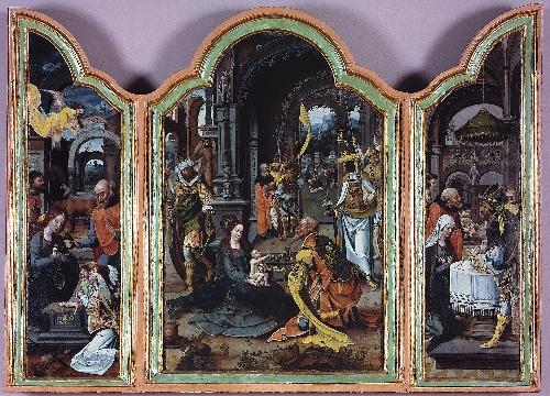 Tríptico de la Epifanía, Nacimiento y Presentación en el templo