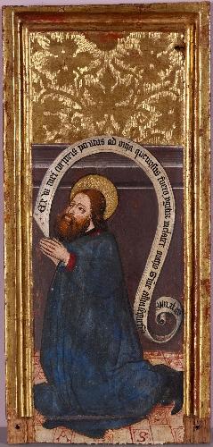 Retablo de Heredia: San Cristóbal orante