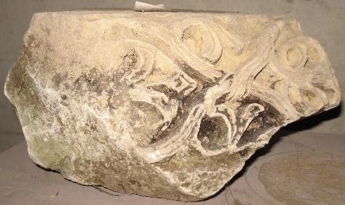 Fragmento de cimacio de la Abadía de Santa Pía