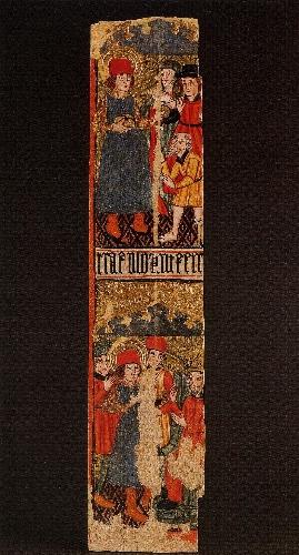 Fragmento de retablo de Jokano con escenas de San Jorge