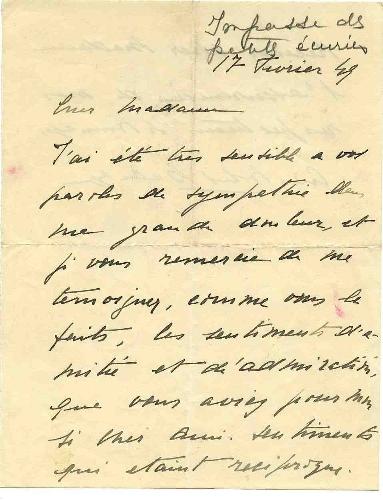 Carta de Cristóbal Balenciaga Brossin de Meré