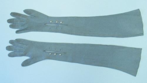 Guantes de ante gris