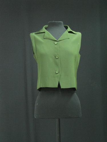 Blusa de crepé verde botella