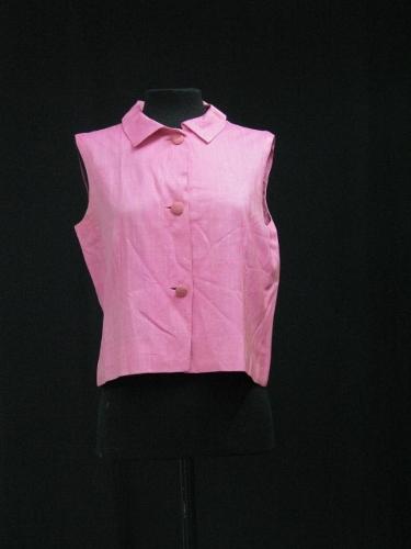 Blusa de seda rosa