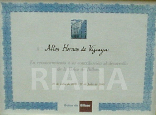 Diploma Bolsa de Bilbao