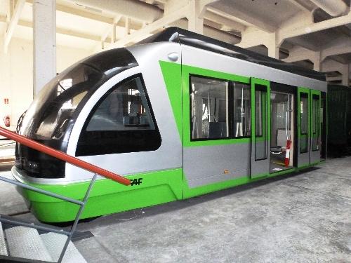 Maqueta prototipo del Tranvía de Bilbao
