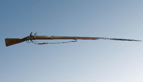 Fusil belga de chispa con bayoneta modelo 1777