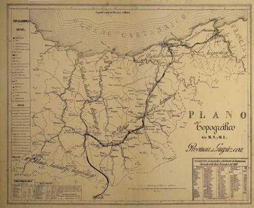 Plano Topográfico de la M.N. y M.L. Provincia de Guipúzcoa
