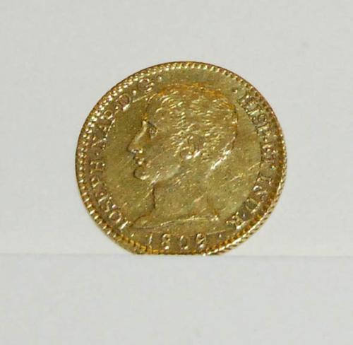 Moneda de oro 80 reales de José Napoleón I