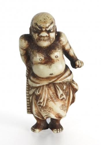 Netsuke en forma de Asahina Saburō