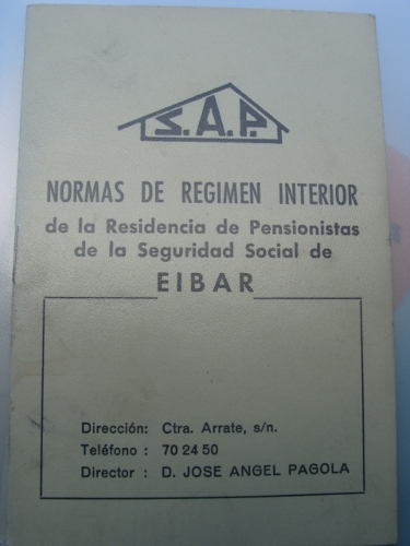 Normas de régimen interior de S.A.P