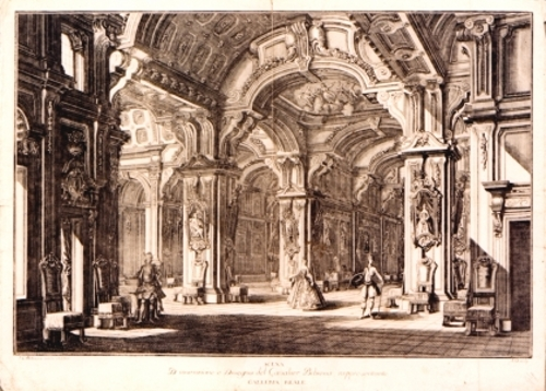 Scena D'Invenzione del Cavalier Bibiena rappresentante Galleria Reale