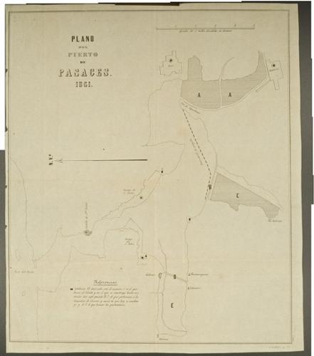Plano del Puerto de Pasajes 1861