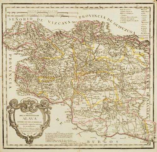 Mapa de la provincia de Álava